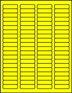 Yellow canary dayglo fluorescent labels C1705