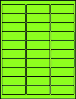 Green dayglo fluorescent labels 30 up mailing GR2610