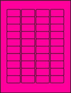 Hot Pink dayglo fluorescent labels P15878