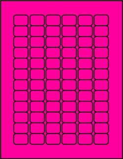Pink fluorescent dayglo label sheets P341